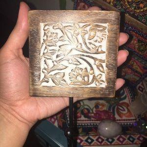 Wood bohemian hook
